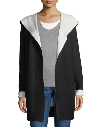 Double-Face Open-Front Hoodie