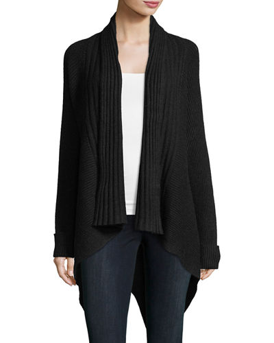 Multi-Ribbed High-Low Cardigan