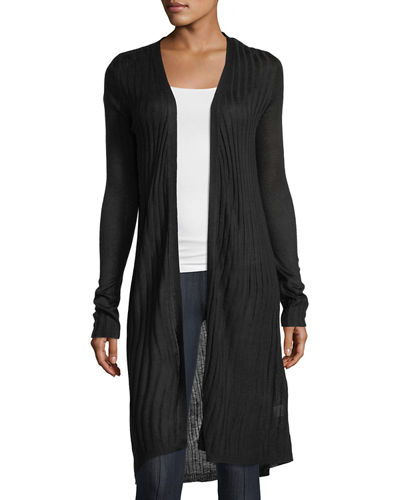 Long Open-Front Cardigan