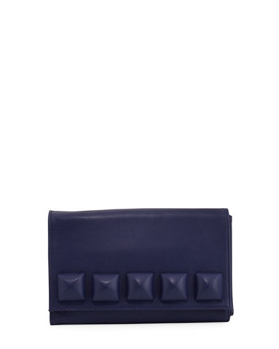 Large Stud Fold-Over Clutch Bag