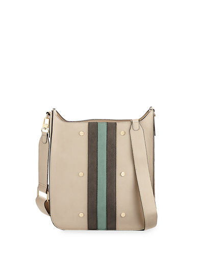 Striped Midi Messenger Bag