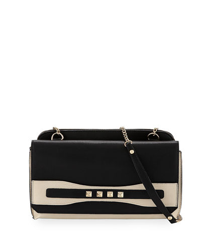 Studded Flap-Top Clutch
