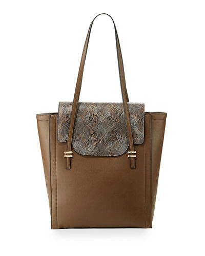 Mag Faux Leather Tote Bag