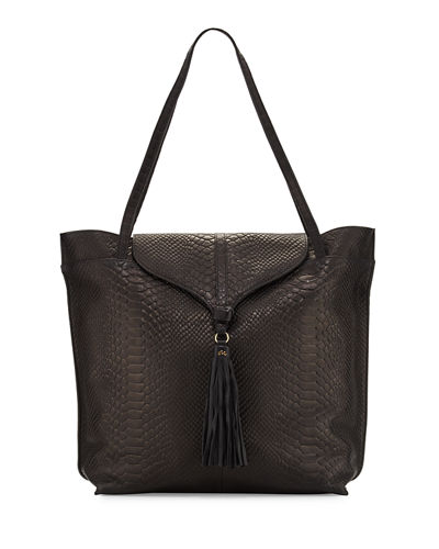 Arrow Leather Tassel Tote Bag