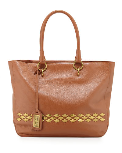 Carol Studded Leather Tote Bag