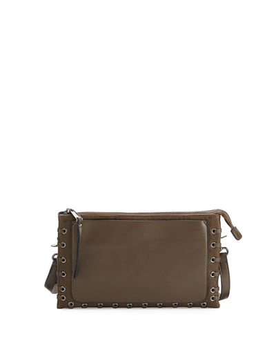 Faye Bubbled Faux-Leather Crossbody Bag