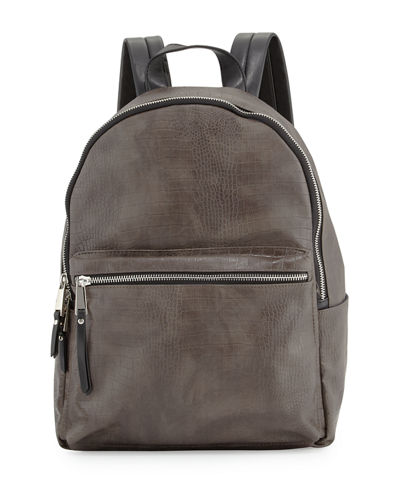Perry Crocodile-Embossed Backpack