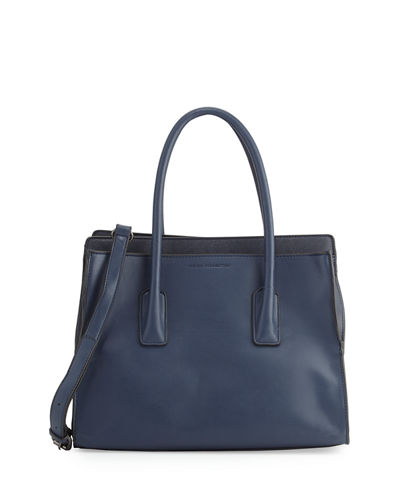 Iris Faux-Leather Tote Bag