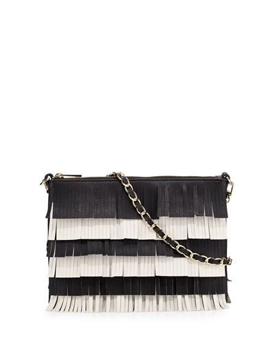 Beth Layered Fringe Flat Crossbody Bag
