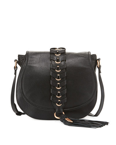 La Trenza Leather Saddle Bag