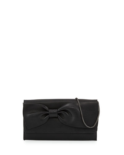Olivia Bow-Embellished Clutch Bag