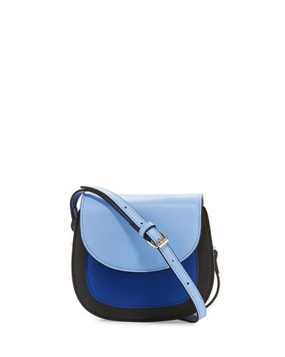 Simone Colorblock Leather Mini Saddle Bag