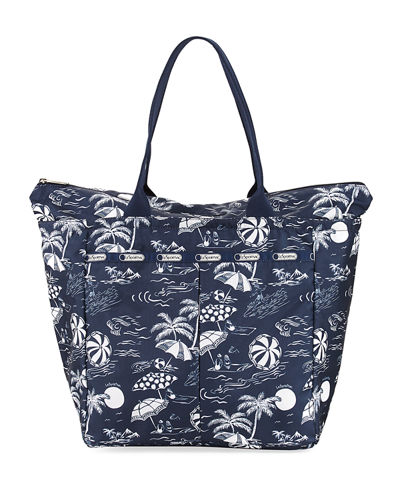 EveryGirl Printed Zip Top Tote Bag