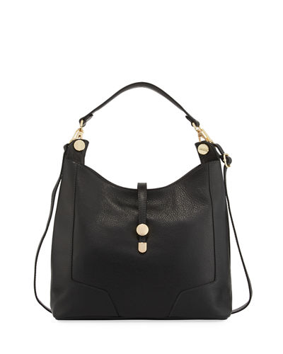 Framed Leather Hobo Bag