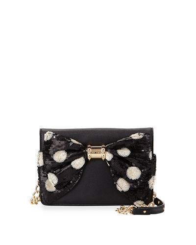 Oh Bow Sequined Wallet-On-Chain