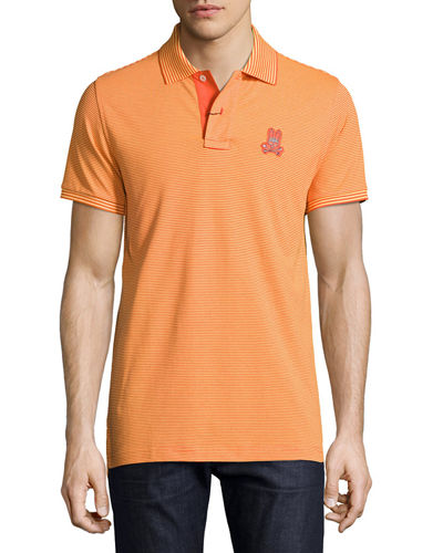 Bunny Striped Pima Polo Shirt