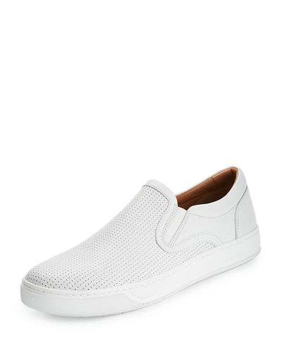 Ace Perforated Leather Skate Sneaker