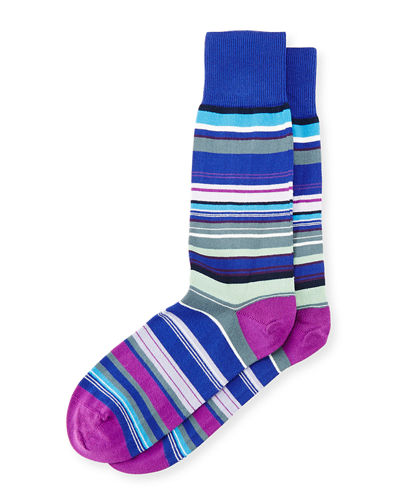 Multicolored Skinny-Striped Socks