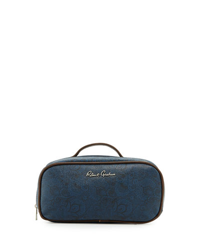 Faux-Leather Toiletry Bag