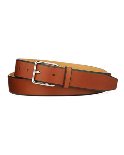 Pebbled Leather Belt, Black