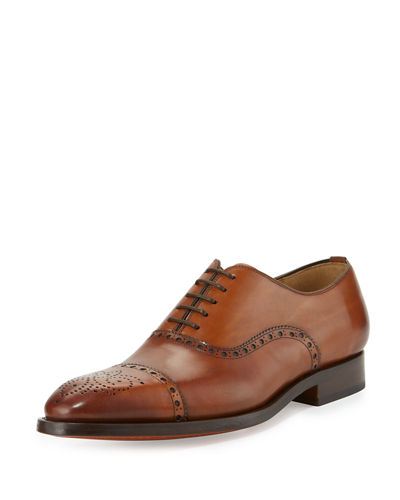 Cap-Toe Leather Oxford, Black