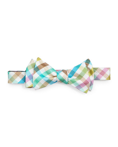 Gingham Silk Bow Tie