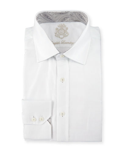 Herringbone Long-Sleeve Dress Shirt