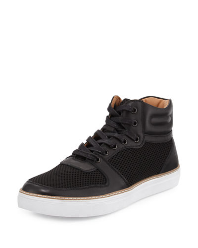 Preston Leather Mesh High-Top Sneaker