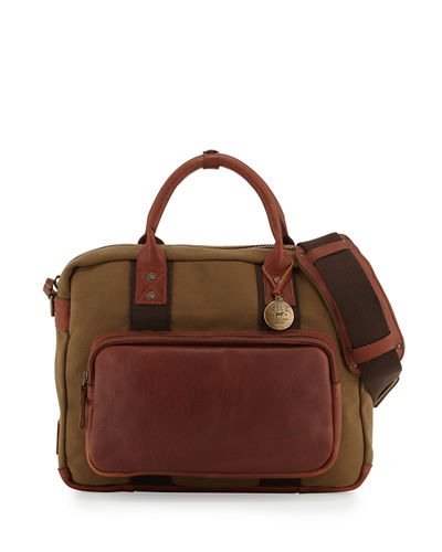 Lewis Canvas Leather Briefcase