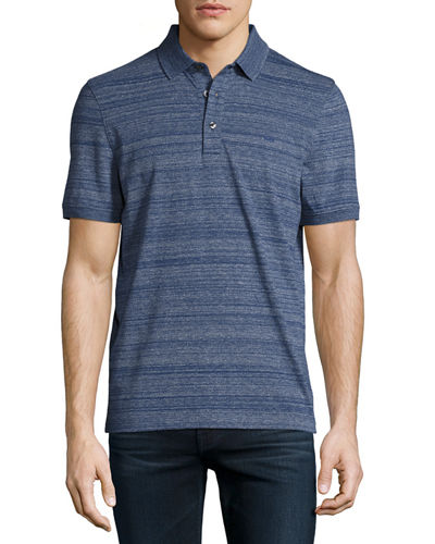 Knit Short-Sleeve Textured Polo Shirt