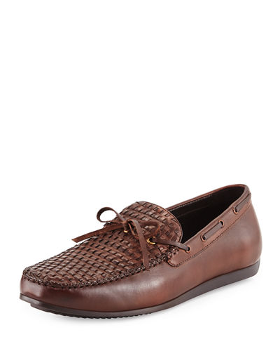 Cezanne Woven Leather Loafer