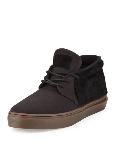 One O One Suede Mid Top Moccasin Sneaker