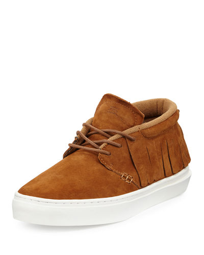 One-O-One Suede Mid-Top Moccasin Sneaker