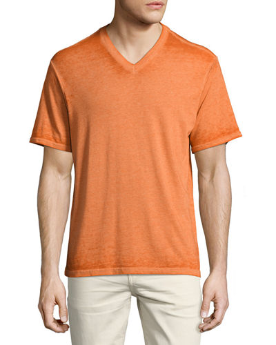 Burnout V-Neck Jersey Tee