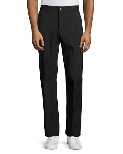 Flat-Front Two-Way Stretch Pants
