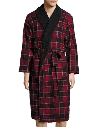Fleece-Lined Flannel Robe
