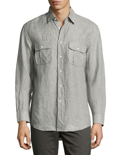 Brantley Linen Utility Shirt