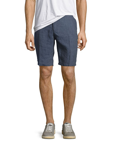 Solid Chambray Shorts