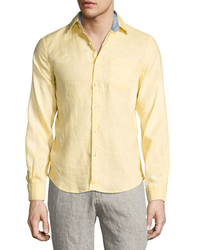 Linen Long-Sleeve Sport Shirt