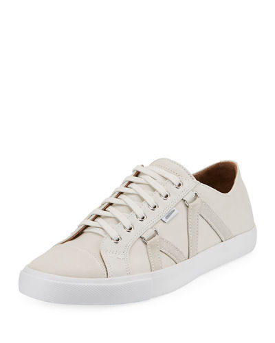 Signature Leather Lace-Up Sneaker