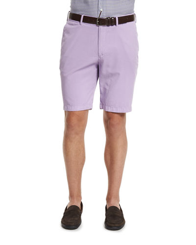 Summertime Flat Front Twill Shorts