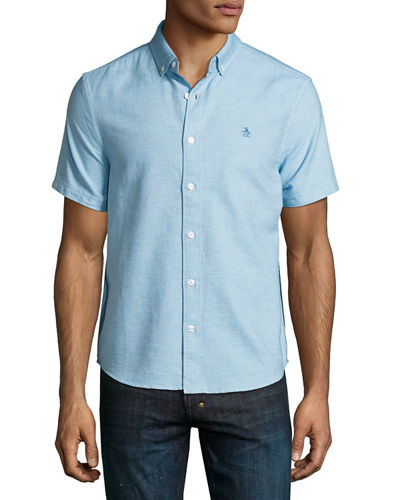 Jaspe Short-Sleeve Oxford Shirt