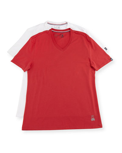 Tagless Two-Pair V-Neck Tee