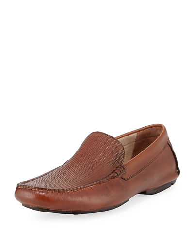 Write in Stone Leather Loafer with Silver Technology