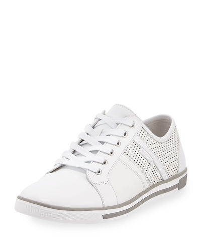 Initially Perforated Leather Sneaker
