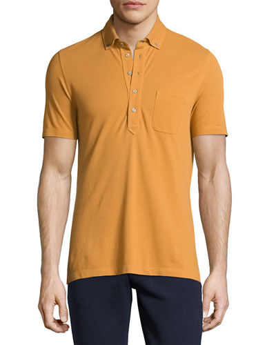 Button-Front Pocket Polo Shirt