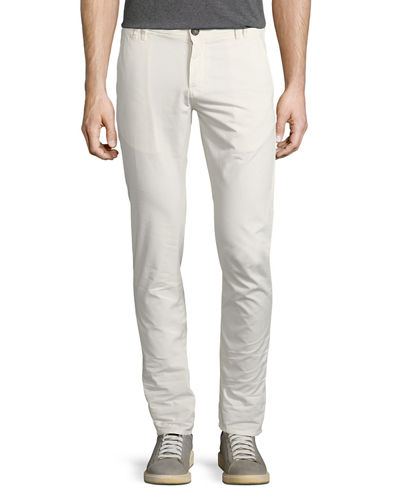 Six-Pocket Gabardine Slim-Fit Pants