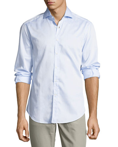 Slim-Fit Cotton Sport Shirt
