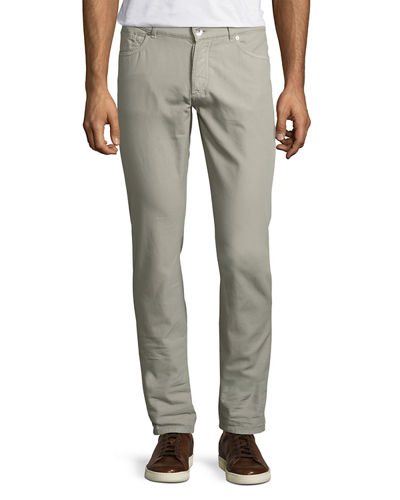 Five-Pocket Slim-Fit Panama Pants