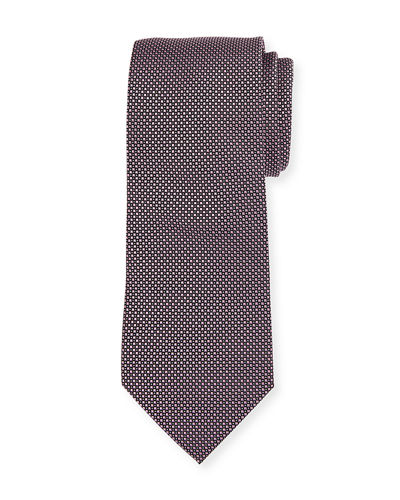 Boxed Micro Dot Silk Tie